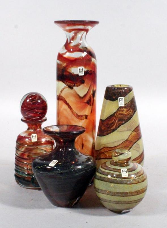 Mdina Art Glass Vases 4 And Decanter Vases Range 4 12h