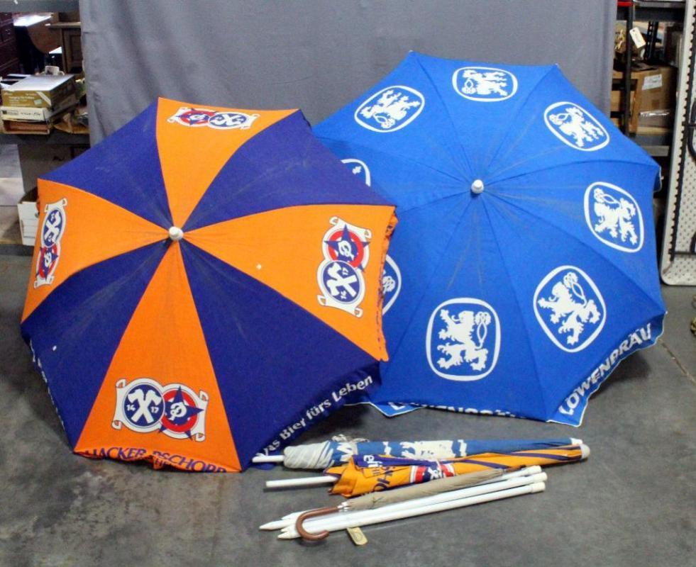 German Munich Beer Advertising Patio Umbrellas Qty 4 Hacker