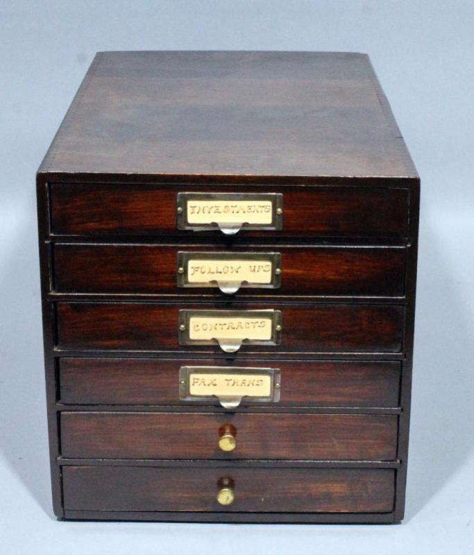 Lot 188a Of 395 Weis 6 Drawer Wood Printers Filing Cabinet Small Chest Dovetail Construction 10 W X H 15 5 D