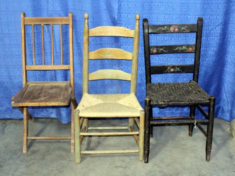 Antique Wooden Chairs With Wicker Seats
