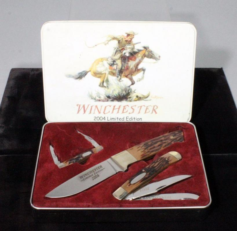 2004 Winchester Limited Edition 3 Knife Set With Original