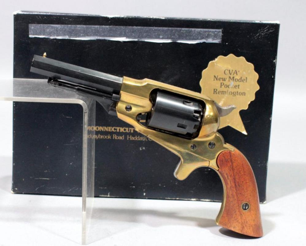 1863 CVA New Model Pocket Remington Black Powder Revolver Kit Gun