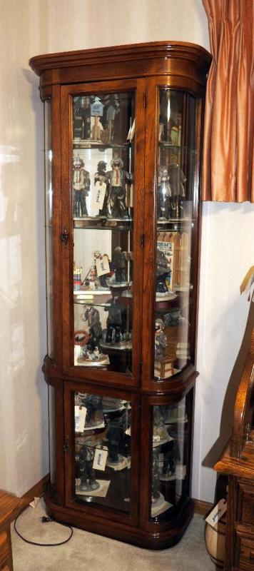 Lot 22 Of 341 Ski Furniture Corp Lighted Double Door Curio Cabinet With Gl Shelves 76 25 H X 28 W 13 D Contents Not Included Matches 21