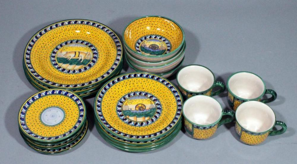 Lot 73 of 392 Geribi Deruta Italy Pottery Dinnerware Hand Painted \u0026 Signed Includes 3 Dinner Plates 4 Salad Plates 4 Bread Plates 4 Bowls \u0026 4 Cups & Geribi Deruta Italy Pottery Dinnerware Hand Painted \u0026 Signed ...
