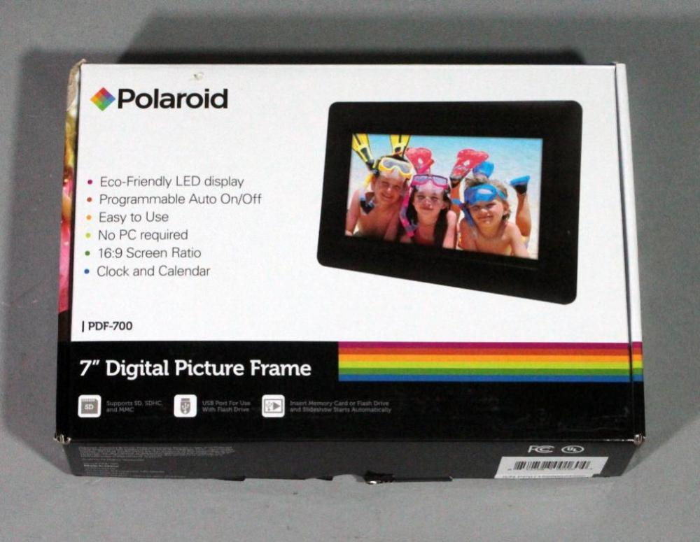 Polaroid 7 Digital Picture Frame 169 Screen Ratio New In Box