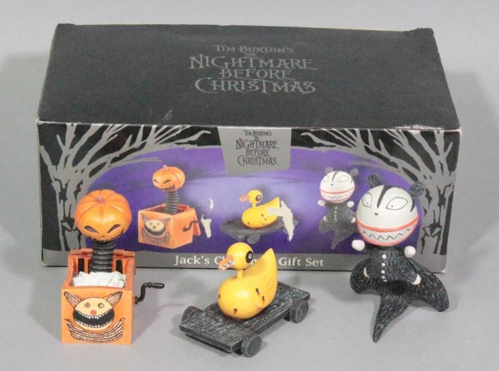 lot 48 of 283 tim burtons nightmare before christmas jacks christmas gift set figurines with original box