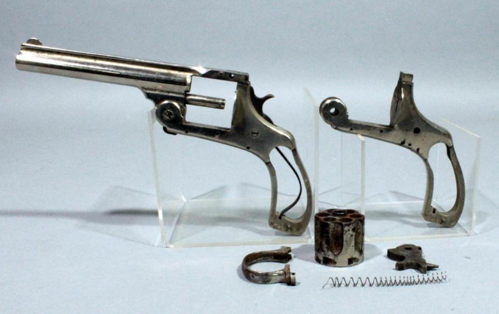 Revolver Frames and Parts, SN# 5725 and SN# 44612, Cylinder, Spring ...