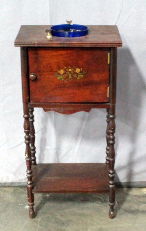 vintage humidor smoking stand 12 5 w x 24 h x 9 5 d