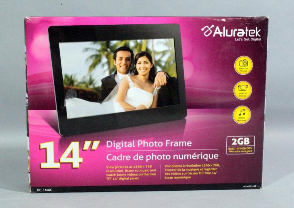 Aluratek 14 Digital Photo Frame Photos Videos And Music 2gb