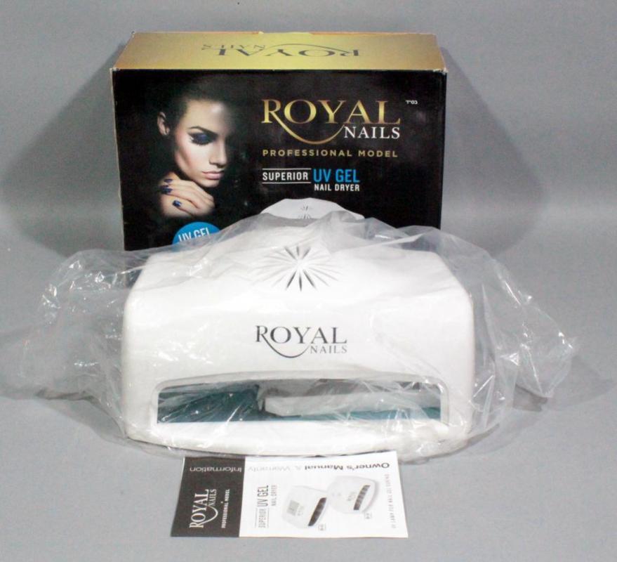 Royal Nails Professional Model Superior UV Gel Nail Dryer, 54 Watts ...