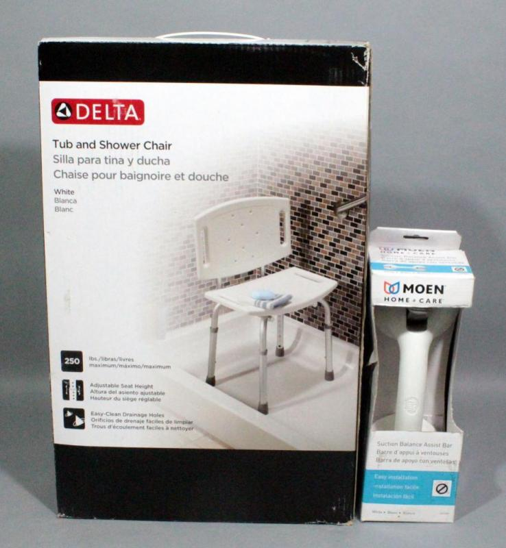 Delta Tub and Shower Chair with Adjustable Seat Height, Supports Up ...