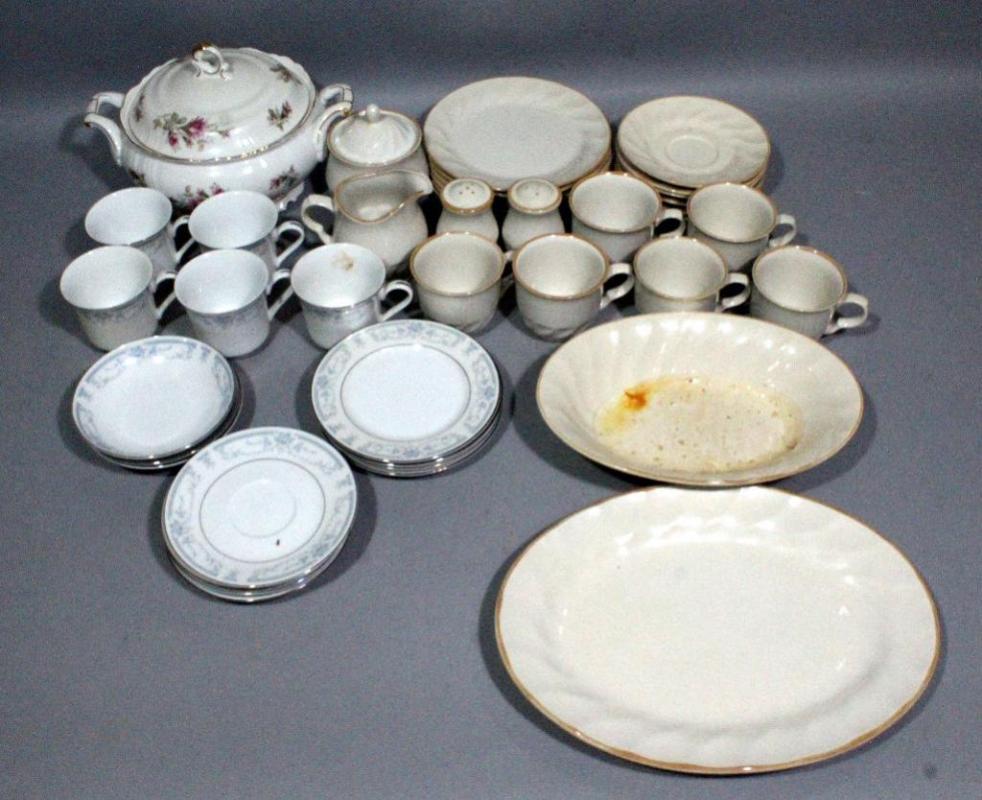 Assorted Dinnerware, Sculptura Hearthside Stoneware, Ucagco Old Rose ...