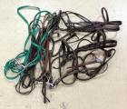 Leather Bridles, Qty 4, Martingale, Leather Reins, Qty 2, and Synthetic Reins, Qty 1