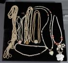 Costume Jewelry Faux Pearl / Beaded Necklaces, Qty 10