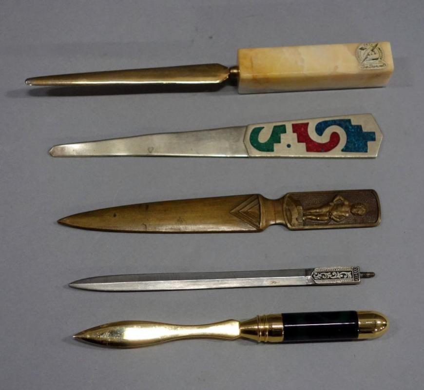 Antique Letter Openers.Vintage Letter Openers Qty 5 New Diamond Bruxelles Boy