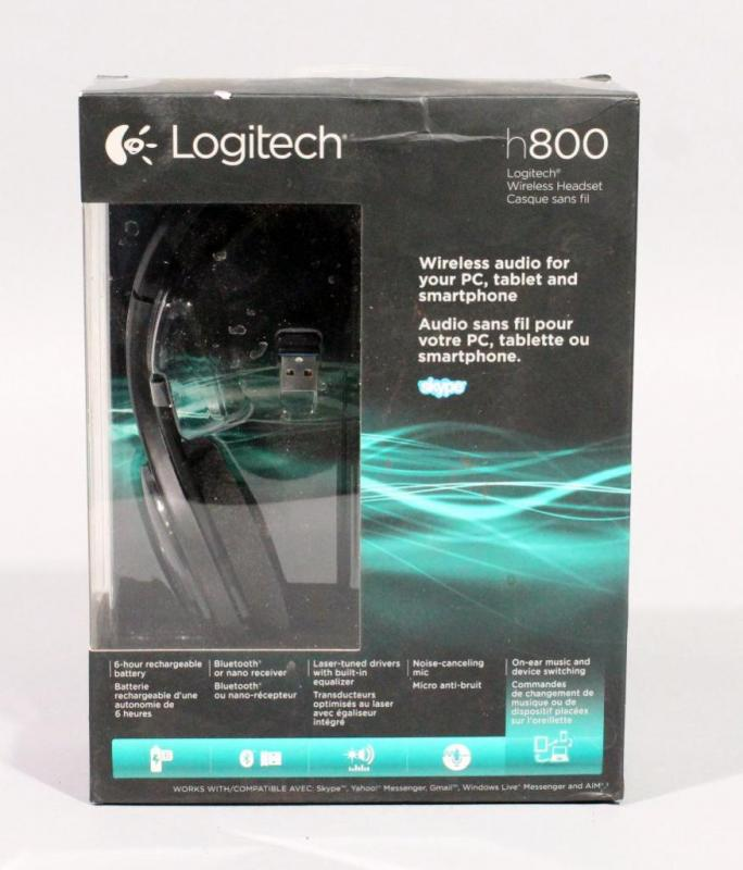 Lot 178logitech H800 Wireless Bluetooth Nano Receiver Headphones Appears New In Box