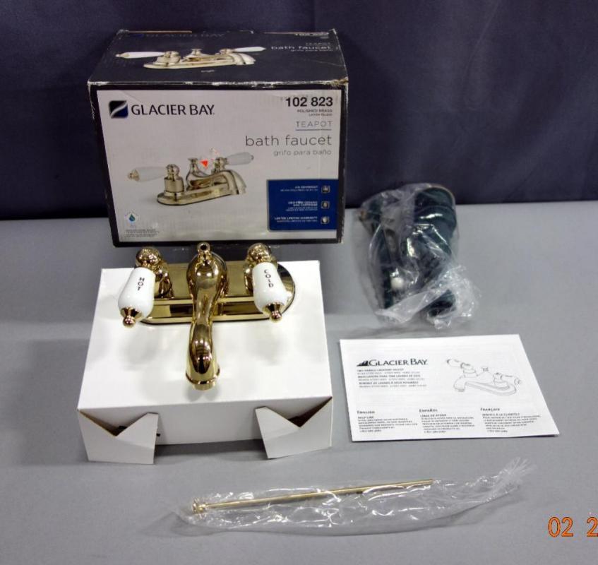 Glacier Bay Teapot Bath Faucet, Model 102 823, Polished Brass ...