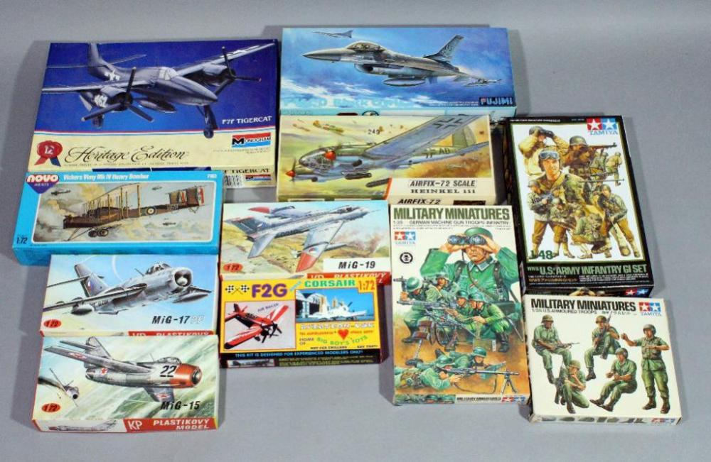 Assorted Military & Aircraft Scale Models, Qty 11, Fujimi