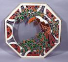 "Toucan Stained Glass Style Octagonal Wall Art, 30""W x 30""H"