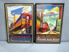"Indiana Rail Road Company Posters, Qty 2, ""Precision Transportation"" and ""Bloomington Heritage Traction Line"" Posters, Framed, 21""W x 31.5""H"