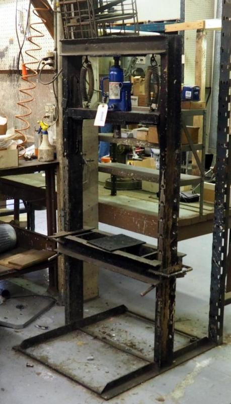 Lot #2958-Ton Hydraulic Press, Homemade HD