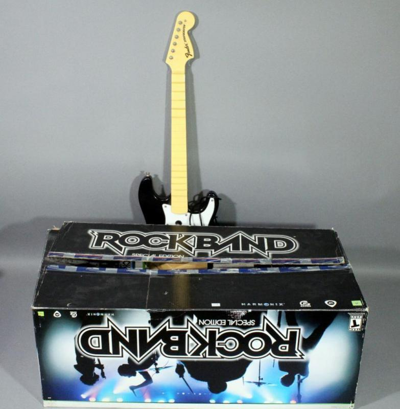 XBOX 360 Rock Band 1 Special Edition Game Bundle with Guitar