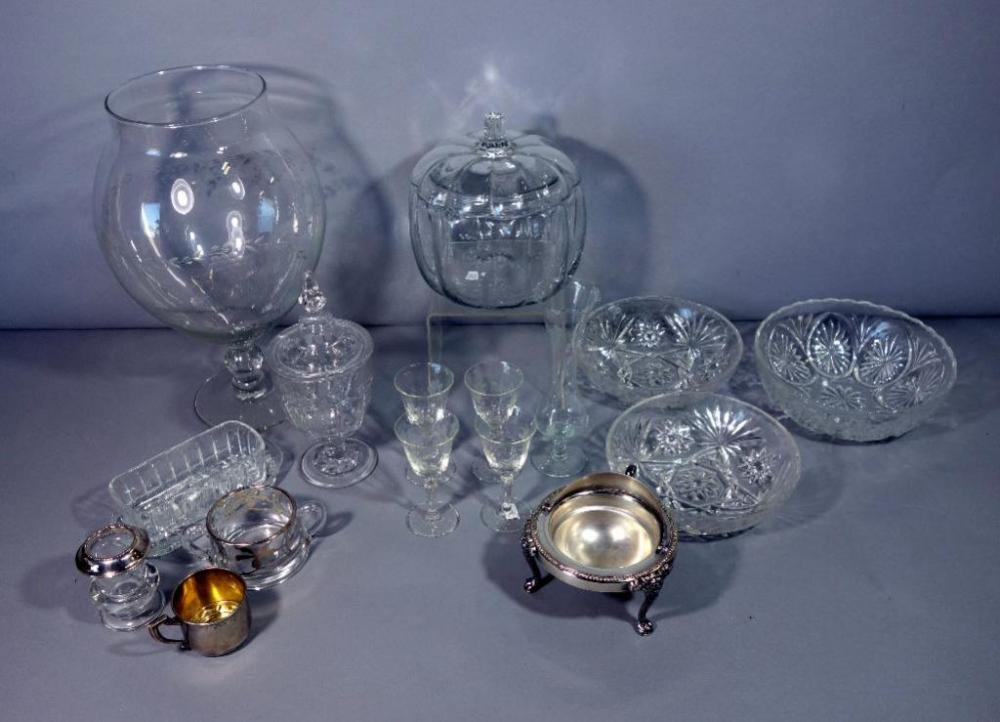 Assorted Glass 14 Grape Pattern Etched Glass Jar 4 Cordial