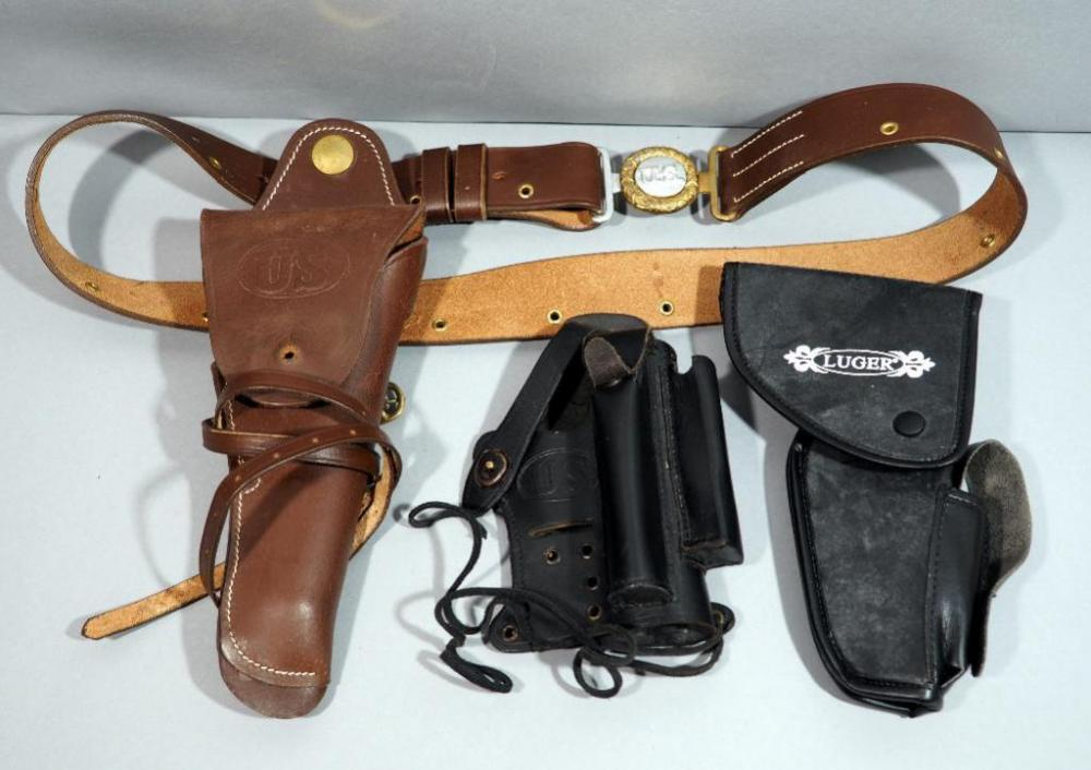 Walther P-22 Black Leather Holster with Magazine /& Silencer Pockets U.S