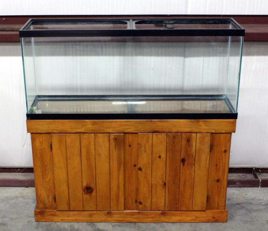Lot 15055 Gallon Fish Tank On Stand 48 L X 21