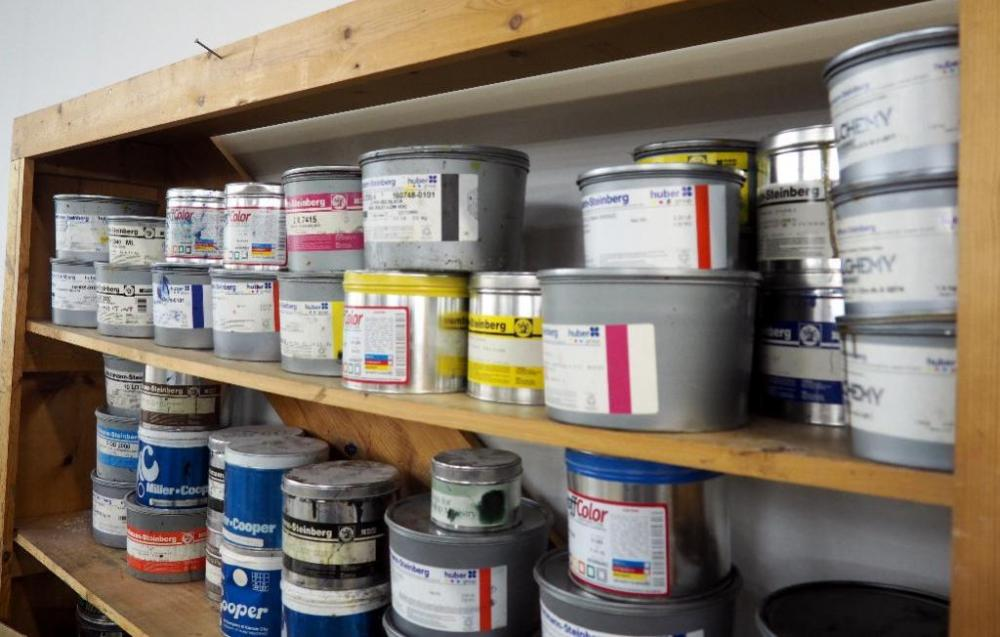 Assortment Of Printer Inc, New And Used 5 Pound Cans, Approx 25