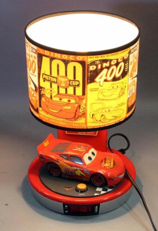 2006 Disney Pixar King America Cars Lightning Mcqueen Piston Cup Digital Alarm Clock Table Lamp 15