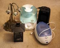 SilverStone Humidifier 1 Gallon, Comfort Zone Portable Heater, Homedics Paraffin Bath With Wax And Box of Misc