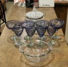 Pressed Glass Ice Bucket, Margarita Glasses Qty 4, Wine Glasses Qty 4 And More