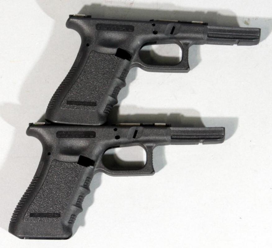Glock 22 Gen 3 Stripped Frames, Qty 2, SN# 1M02457HP & 1M02578HP