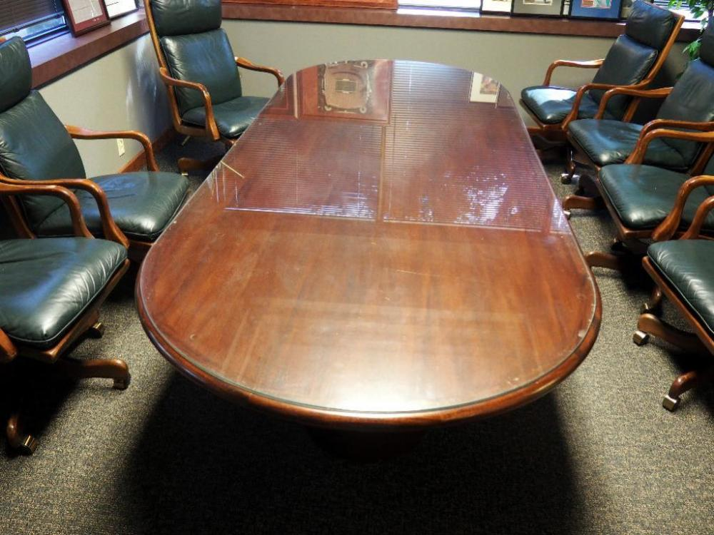 Solid Wood Oval Conference Table With Glass Top H X W X D - Oval glass conference table
