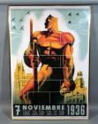 "7 Noviembre 1936 Madrid Spanish Civil War Repro Poster, Framed, 29.5""W x 43""H"