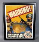 """Warning! Our Homes Are in Danger Now!"" WWII World War Two US Government Propaganda Poster Repro, Produced by General Motors, 24.5""W x 31""H, See Info"
