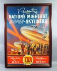 "TWA ""Nation's Mightiest Super-Skyliners"" Vintage Advertisement Nostalgia Poster, Framed, 29""W x 39.5""H"