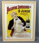 "A Junod Absinthe Superieure 72 Pontarlier (Doubs) Absinthe Club Alcohol Advertising Nostalgia Poster, Framed, 26""W x 32""H"