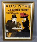 "J Edouard Pernot ""Liqueur Mont-Christ"" Extra-Superieure Montbeliard (Doubs) Absinthe Club Advertising Nostalgia Poster, Framed, 28""W x 36""H"