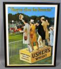 "Usher's Whisky ""They're all on the Favourite"" Andrew Usher Distillers Edinburgh Advertising Nostalgia Poster Print, Framed, 24""W x 30""H"