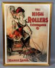 "The High Rollers Extravaganza Co. ""Mamie Lamb"" 1899 Theater Burlesque Advertising Nostalgia Poster Print, Framed, 30""W x 41""H"