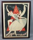 "Obrad Nicolitch ""Nijni et Stone"" 1925 French Theater Dancers Advertising Nostalgia Poster, Framed, 27.5""W x 37""H"