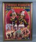 "Louis Galice Cirque Pinder ""The Pinder Bros"" Clowns Musicaux Musical Circus Clowns Advertising Nostalgia Poster Print, Framed, 34""W x 44.5""H"