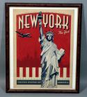 "New York, New York ""Come and Experience the City"" ""So Great They Had to Name it Twice"" Vintage Travel Advertising Nostalgia Poster, Framed, 19"" x 23"""
