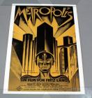 "Fritz Lang ""Metropolis"" German Expressionist Sci-Fi Movie Poster, Rolled, 29""W x 40""H"