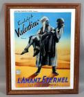 "Rudolph Valentino Astra Films ""The Son of the Sheik"" L'Amant Eternel Les Fils du Chiek French Movie Poster Print, Framed, 25""W x 31.5""H"