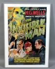"Universal Pictures HG Wells ""The Invisible Man"" Universal Monster Sci-Fi Horror Movie Poster Print, Gloria Stuart, Claude Rains, James Whale, See Info"