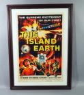 "Universal Pictures ""This Island Earth"" Sci-Fi Classic Movie Poster Print, Jeff Morrow, Faith Domergue, Rex Reason, Framed, 23""W x 31""H"