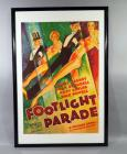 "Warner Bros Vitaphone ""Footlight Parade"" Musical Movie Poster Print, James Cagney, Joan Blondell, Dick Powell, Framed, 25""W x 37.5""H"